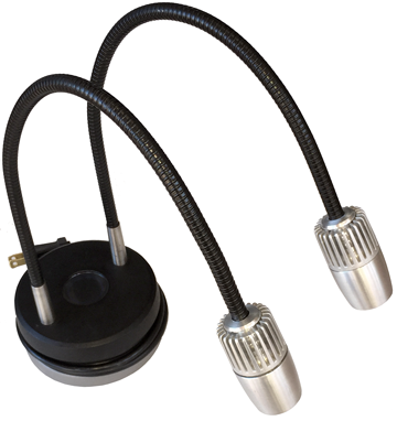 EcoPHOT LED Dual Gooseneck illuminator for laboratory and academic applications