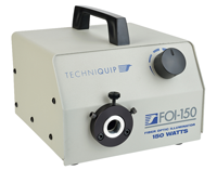 Techniquip Fiber Optic LIGHT SOURCES – FOI-150 Series; Industry standard 150 watt (FOI-150) halogen illuminator. Very high reliability with over 300,000 sold.  Made in USA by Techniquip.