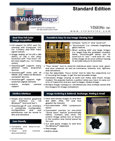 VisionGauge Machine Vision Software - IMT, IMT software, iSolutionDT, i-Solutions   DT, advanced imaging software, image analysis, motor control software, Imagepro, Imagepro Plus