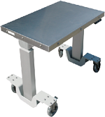 Motorized lift cleanroom tables