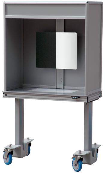 ErgoVu-30 manualinspection booth with motorized option