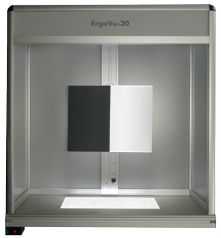ErgoVu-30 Small footprint inspection booth - table or wall mount