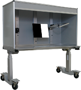 ErgoVue-60 Ergonomic motorized lift booth