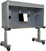 Ergonomic Manual Inspection Booths (MIB) for pharmaceutical, biomedical vial inspection, conformal coating inspection
