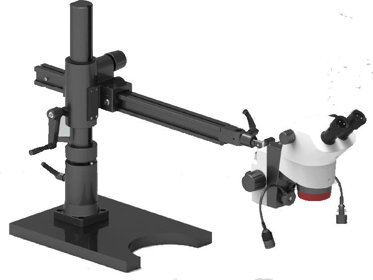 Labomed 6Z Binocular Zoom on heavy boom arm stand