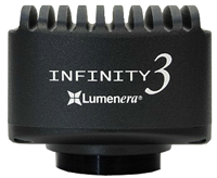 Lumenera Infinity models 3-1URFC color and 3-1URFM monochrome un-cooled 2/3inch CCD 1.4 megapixel high performance fluorescence digital microscope   camera packages from Lumenera