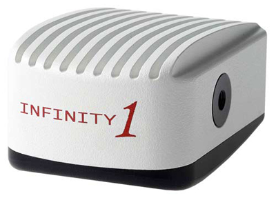 Lumenera CMOS INFINITY 1 series digital microscope cameras: 1.3, 2, 3.1, and 5 megapixel.