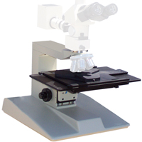 COMPOUND MICROSCOPE UPRIGHT STANDS – traditional microscope stands to handle up to 12 inch wafers, transmitted and reflected light available. Complete kits for Olympus, Nikon, Leica, Zeiss microscopes to use your optics