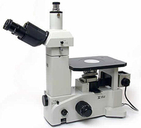 Meiji IM7000 Inverted Microscope - Inverted metallurgical microscope, cross-section microscope, semiconductor microscope, metal grain microscope, Plan infinity corrected long working distance optics. Koehler illumination. Lifetime warranty.