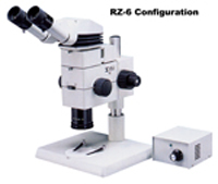 MEIJI RZ 10:1 StereoZoom Microscope – Research level performance with wide selection of options including coaxial illumination and ergonomic binocular head