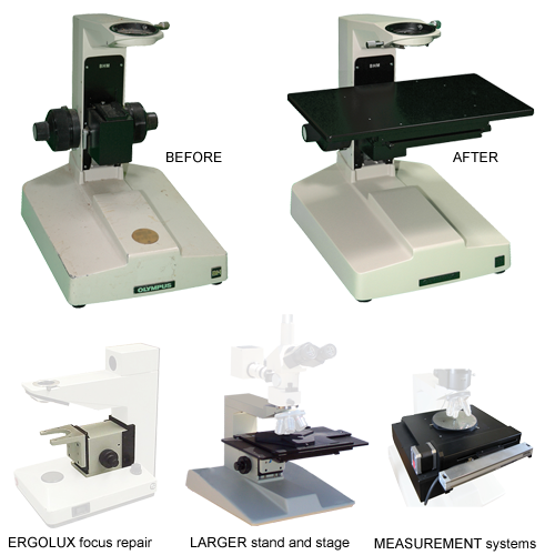 MICROSCOPE rebuild services for industrial and scientific applications