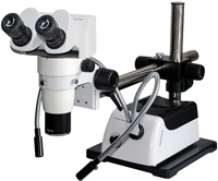 SPZ1000 Research 10:1 Stereo Zoom Microscope – available in 6:1, 8:1, 10:1 zoom ratio with magnification to 400x. Ergonomic design for production areas and research laboratory. Compare to Nikon SMZ1000 series performance without the cost.