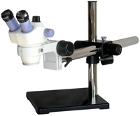 SZ445 4:1 Stereo Zoom Microscope – 4:1 zoom ratio for magnification to 120x. Low cost, high performance optical system. Many accessories to customize. Camera ready model SZ445TR available. Compare to Nikon SMZ445 and SMZ460.